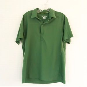 Arc'teryx Green Snap Front Mens Outdoors Polo